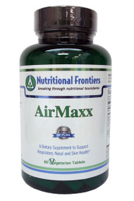 AirMaxx Chewables and Tablets: - Supports proper respiratory function* - Contains ingredients to maintain histamine levels within normal ranges* - Supports healthy balanced immune system function and contains potent antioxidants*  A dietary supplement recommended for: - Itchy eyes, skin and nose* - Runny or stuffy nose* - Red, splotchy skin* - Discomfort associated with respiratory dysfunction or skin irritation*