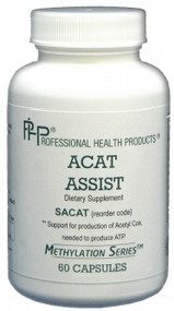 ACAT Assist contains cofactors and other nutrients to assist in the production of Acetyl-CoA, the first step of the Citric Acid Cycle in the production of ATP.