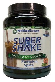 A hypoallergenic, vegetarian, low carbohydrate meal replacement powder suitable for those with food allergies and food sensitivities. Super Shake provides a low carbohydrate meal replacement option that is free from the most common food allergens, including gluten, dairy, and soy. Many protein powders on the market contain common food allergens, making those shakes unsuitable for sensitive individuals.  Super Shake features pea, rice, and pumpkin as its protein sources, providing a delicious alternative for people on a variety of food programs including weight management, detoxification, low carbohydrate, diabetes, food allergies, or those simply looking to add shakes to their daily routine. Super Shake can be mixed easily with water, coconut, rice or almond milk, and juice. Super Shake may be added to a blender with fresh or frozen fruit, coconut, rice or almond milk, ice, nut butter, and/or for extra nutritional value, one of Nutritional Frontiers' Pro Colors powders such as Pro Lean Greens, Pro Oranges, Pro Purples, or Pro Reds.