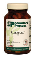 Allerplex, with vitamin A and C, supports the body's ability to handle seasonal, environmental, and dietary challenges.  Supports the body's natural ability to manage mucus movement Supports healthy liver function Supports healthy lung and respiratory function Contains a combination of key ingredients from Pneumotrophin PMG, Drenatrophin PMG, Cataplex A-C, Betacol, and Antronex  How does Allerplex help support healthy function of the sinuses and lungs? Fenugreek seed has a long history of traditional use, including as a support for managing movement of mucus in the body.1 The primary purpose of lung PMG™ extract is to support the healthy function of the lungs and upper respiratory system.*