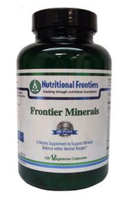 Minerals are essential for your body to survive and be able to perform everyday functions. Frontier Minerals by Nutritional Frontier is made up of numerous vital minerals that can help improve your overall health. It is an ideal supplement for individuals that do not consume enough of these essential nutrients through their diet.  With all of its ingredients' Frontier Minerals can potentially support your body's energy production' nerve & muscle function' and improve your immunity. Minerals in general are associated with proper composition of body fluids' regulation of muscle tone' and the formation of your bones and blood.  Three key minerals found in this formula include magnesium' potassium' and calcium.  Magnesium is beneficial as it can provide support for your bones and may assist with your cardiovascular and digestive health. Potassium is believed to be beneficial for your cardiovascular health' vision' and mental health. Calcium is essential for maintaining healthy bones and teeth. It can also provide support for your cardiovascular health and nerve function.