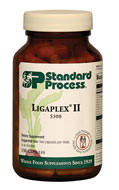 Ligaplex II supports tissue and joints to maintain connective tissue health, especially for long-term support.  Provides the foundation to feed the musculoskeletal system and facilitate freedom of movement. Nutritional compounds  for support of proper formation and maintenance of skeletal tissues Involved in maintenance of healthy fluid levels Contains bovine heart PMG™ extract Contains a combination of key ingredients from Cyro-Yeast, Cardiotrophin PMG, Ostrophin PMG, Manganese B12, Super-EFF, Cataplex E*