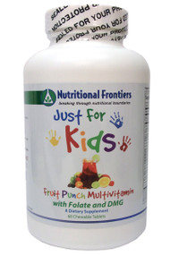 Just for Kids Multi Fruit Punch by Nutritional Frontiers 60 Tablets