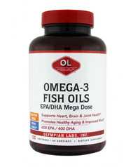 Omega 3 Fish Oils, Mega 2 G By Olympian Labs - 120 SG