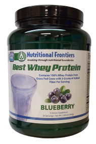 About whey protein Whey protein is a naturally complete protein that provides essential and non essential amino acids to support healing, muscle building, muscle and tissue recovery, energy and the immune system. Whey protein is a great source of branched chain amino acids for muscle support, precursors for glutathione production as well as alpha-lactalbumin and immunoglobulins for immune system support.  The Best Whey • Micro-filtrated • Rich in branched chain amino acids • Available in Chocolate, Vanilla, Blueberry, and Unflavored • Great tasting and easily mixed making it the perfect base for any health shake or smoothie • Combined with 3 g of Fibersol-2™ brand fiber to support regularity