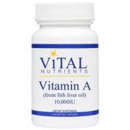 Vitamin A 10,000iu by Vital Nutrients 100 softgel capsules