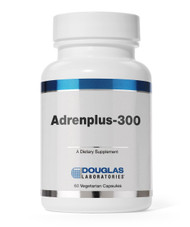 Adren-Plus 300 by Douglas Labs  60 caps  DESCRIPTION  Adrenplus-300 is a blend of vitamins, minerals and bovine adrenal glandular concentrate designed to support adrenal tissue.†   Dosage:  1 or 2 capsules taken twice daily in divided doses in the morning and afternoon before 3pm.