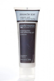 Finally, an all-natural, non-greasy menthol gel in an improved formula and new size!  Out of stock SKU: PM-07. Category: Musculoskeletal. Muscle Ice® is an effective natural alternative to many popular, but potentially harmful, anti-inflammatory sports creams. Our powerful formula contains 4% natural menthol for immediate temporary pain relief and is enhanced with herbal hydrosols for traditional benefits. The Muscle Ice water-based topical gel absorbs quickly into the skin, is non-greasy and paraben free. Now you can get the strong, temporary relief you need — without the risk.  Muscle Ice Ingredients: Active Ingredients: Phytolacca Decandra 1X, Symphytum Officinale 3X, Bellis Perennis 6X, Ledum Palustre 6X, Ruta Graveolens 6X, Magnesia Phosphorica 9X, Silicea 9X, Menthol (4%)  Other Ingredients: Aloe Vera Concentrate, Camphor Essential Oil, Ginger Essential Oil, Lavender Essential Oil, St. John's Wort Essential Oil.  Warnings For external use only. Avoid contact with eyes. If condition worsens, or if symptoms persist for more than 7 days or clear up and occur again within a few days, discontinue use of this product and consult a doctor. Do not apply to wounds or damaged skin. Do not bandage tightly. If pregnant or breast-feeding, ask a heath professional before use. Keep out of reach of children. If swallowed, get medical help or contact a Poison Control Center right away.  Uses For temporary relief of minor aches and pains of muscles and joints.**