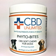 CBD Soft Chews for Dogs by CBD Unlimited 30 Soft Chews 2mg CBD/chew Hemp Oil ( Cannabinoids )