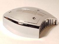 BIG DOG CHROME FACTORY AIR CLEANER COVER WITH LOGO (FITS S&S CARBURETOR SUPER E & G)