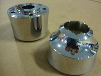 FRONT WHEEL HUB SET - 2005 & UP - CHROME