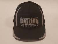 Big Dog Motorcycles Flex Fit Hat - Black - (S/M)