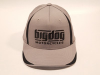 Big Dog Motorcycles Flex Fit Hat - Gray - (L/XL)