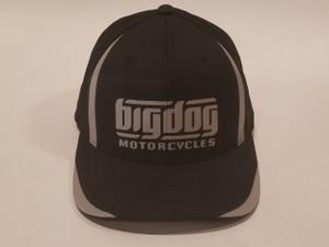 Big Dog Motorcycles Flex Fit Hat - Black - (L/XL)
