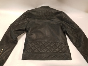 Ladies Black Leather Riding Jacket - Medium