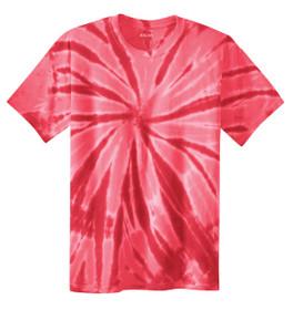 Red tie-dye