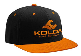 Koloa Surf Orange/Black Solid Snapback Hat with Orange Embroidered Logo