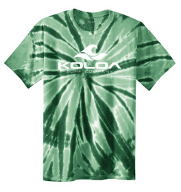 Forest Green tie-dye / White logo