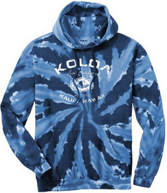 Navy tie-dye with White logo
