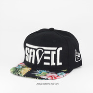 SAVED Ambigram Snapback (hibiscus-black)