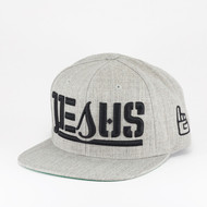 JESUS Ambigram Snapback (sports heather)