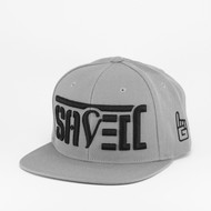 SAVED Ambigram Snapback (all gray) ACTIVE