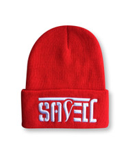 SAVED Ambigram Cuff Beanie - Red