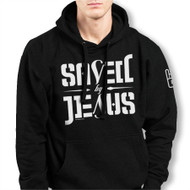 SAVED BY JESUS - PULL OVER HOODIE (BLACK)