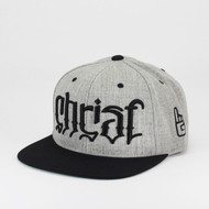 Christ Ambigram Snapback - Black & Heather Gray (Genesis)