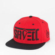 SAVED Ambigram Snapback (Black Red) ADAM