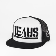 JESUS Snapback Trucker (White/ Black)