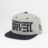 SAVED Ambigram Snapback - Black & Heather Gray