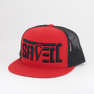 SAVED Snapback Trucker (Red/ Black)