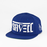 SAVED Ambigram Snapback - Royal Blue (Trust)