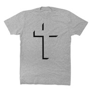 CROSS GOD IS LOVE - SS (FLOCK) HEATHER GRAY