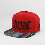 Christ Ambigram Snapback - Sarape (Red)