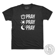 PRAY PRAY PRAY - PREMIUM SLIM FIT (VINTAGE BLACK)