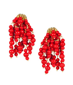 Firecracker Earrings - Red
