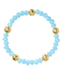Riley Bracelet - Aqua & Gold