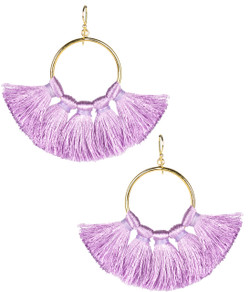 Izzy Gameday Earrings - Lavender