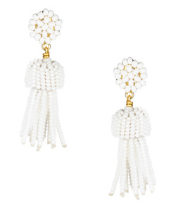 Mini Tassel - White
