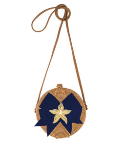 Lucy Canteen Bag - Navy Starfish - Temporarily Sold Out