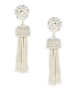 Tassel Earrings - Silver