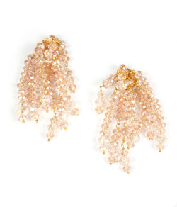 Firecracker Earrings - Czech Pink