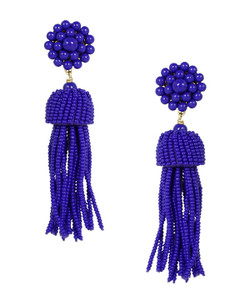 Tassel Earrings - Royal