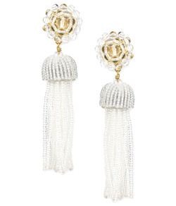 Tassel Earrings - Clear