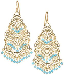 Sky Chandelier Earring - Turquoise