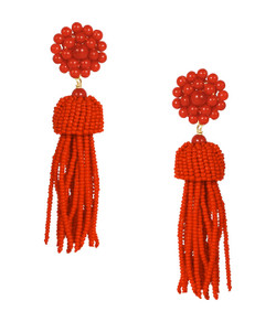 Tassel Earring - Red