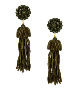 Tassel Earrings - Camo