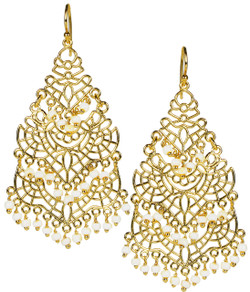 Sky Chandelier Earring - White